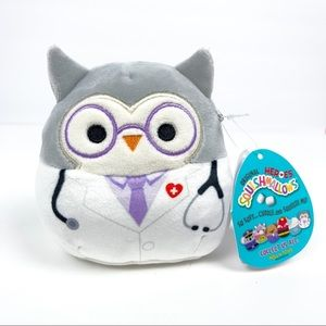"""NWT Squishmallows Doctor Hoot Owl 4.5"""""""